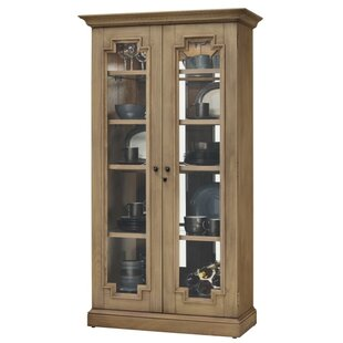 Bretz Lighted Curio Cabinet by Darby Home Co