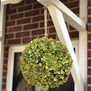 Artificial Hydrangea Ball Hanging Topiary Image