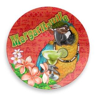 Margaritaville Parrot Round Melamine Platter