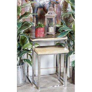 Brayden Studio Wardingham Contemporary 2 Piece Nesting Tables