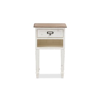 Cilegon Weathered 1 Drawer Nightstand by Gracie Oaks