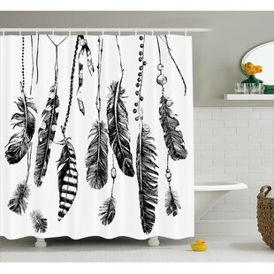 Feather Drawing Decor Shower Curtain By East Urban Home