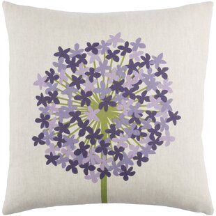 Kismet Agapanthus Linen Throw Pillow