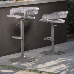 Binford Comfort Airlift Patio Bar Stool (Set of 2) by Brayden Studio