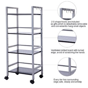 Rebrilliant Maura 4-Tier Multifunctional Rolling Steel Baker's Rack