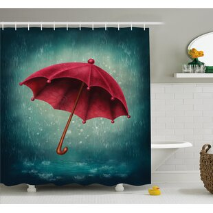 Umbrella Decor Single Shower Curtain