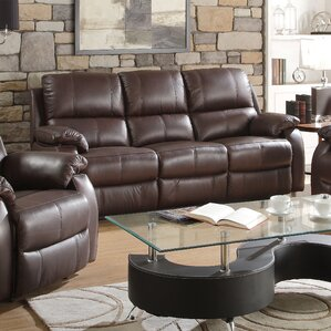 Enoch Leather Reclining Sofa by ACME Furniture