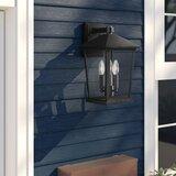 Hagberg 2 - Bulb 15'' H Beveled Glass Outdoor Wall Lantern