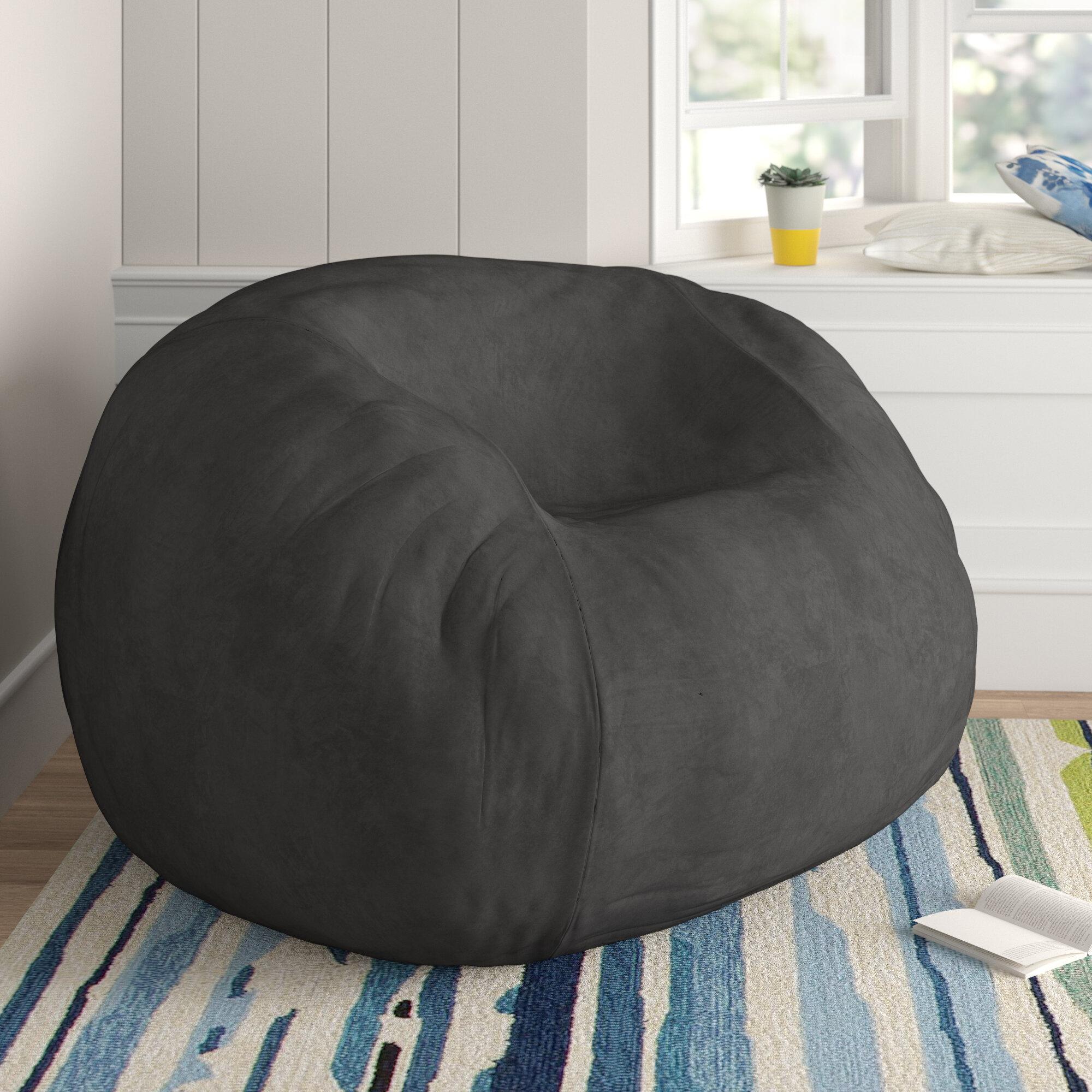 Round Turq Quilted Indoor//Outdoor Water Resistant Bean Bag Garden Furniture