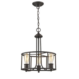 Breakwater Bay Durst Transitional 3-Light Drum Chandelier