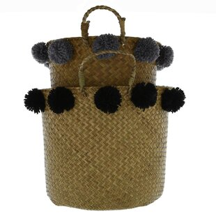 2 Piece Wicker Laundry Basket Set By Symple Stuff