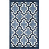 Maritza Light Blue/Navy/White Indoor/Outdoor Area Rug