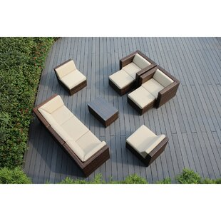 Banneker 10 Piece Sunbrella Sectional Set With Cushions by Orren Ellis Coupon