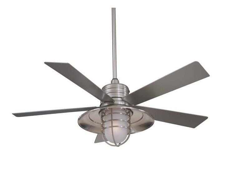 54 Rainman 5 Blade Outdoor Ceiling Fan Light Kit Included Reviews Allmodern