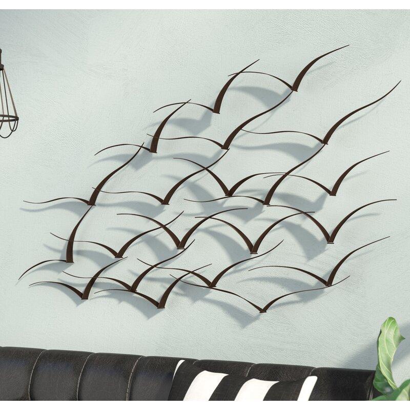 Metal Wall Accent Décor Industrial Art Modern Iron Flock ...