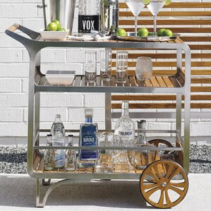 Tres Chic Mobile Bar Cart by Tommy Bahama Outdoor