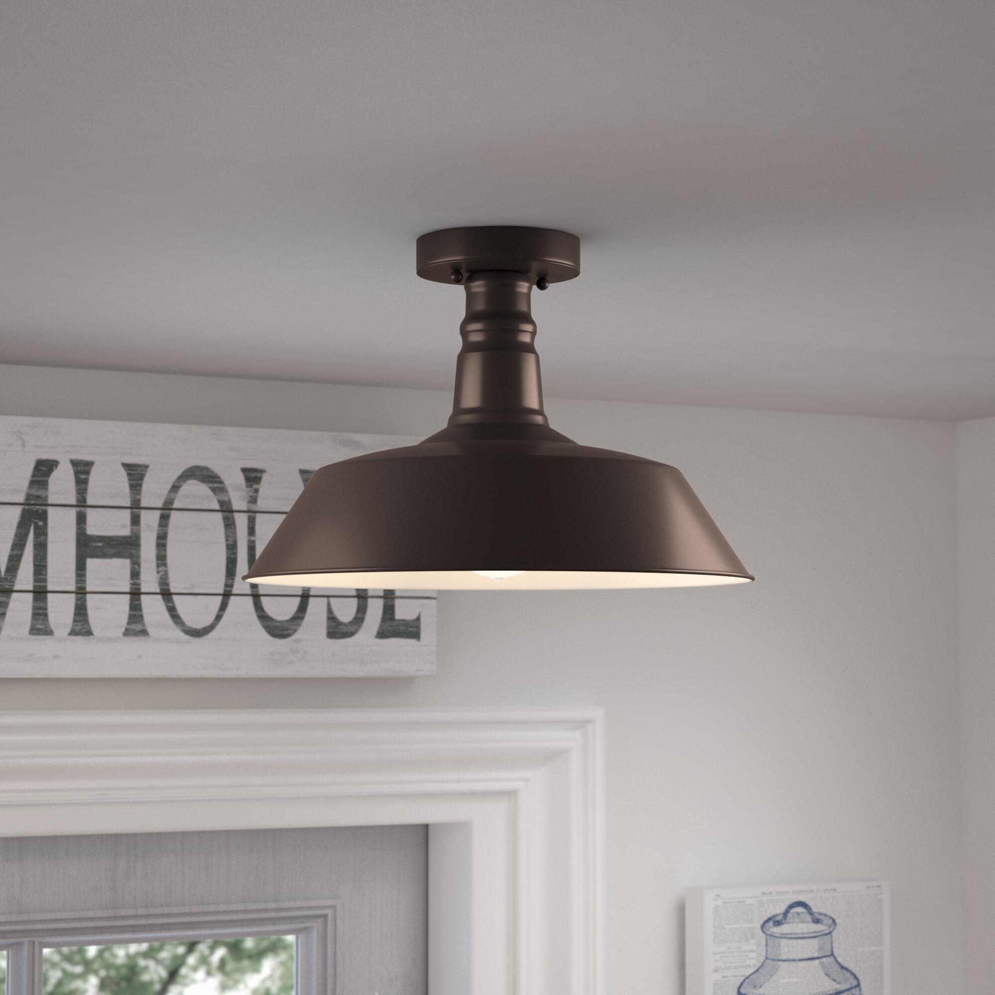 Laurel Foundry Modern Farmhouse Bouvet 1 Light 14 25 Simple Dome Semi Flush Mount Reviews Wayfair