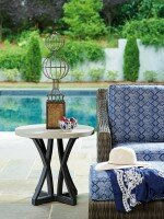 Tommy Bahama Outdoor Del Mar Stone Concrete Side Table Wayfair