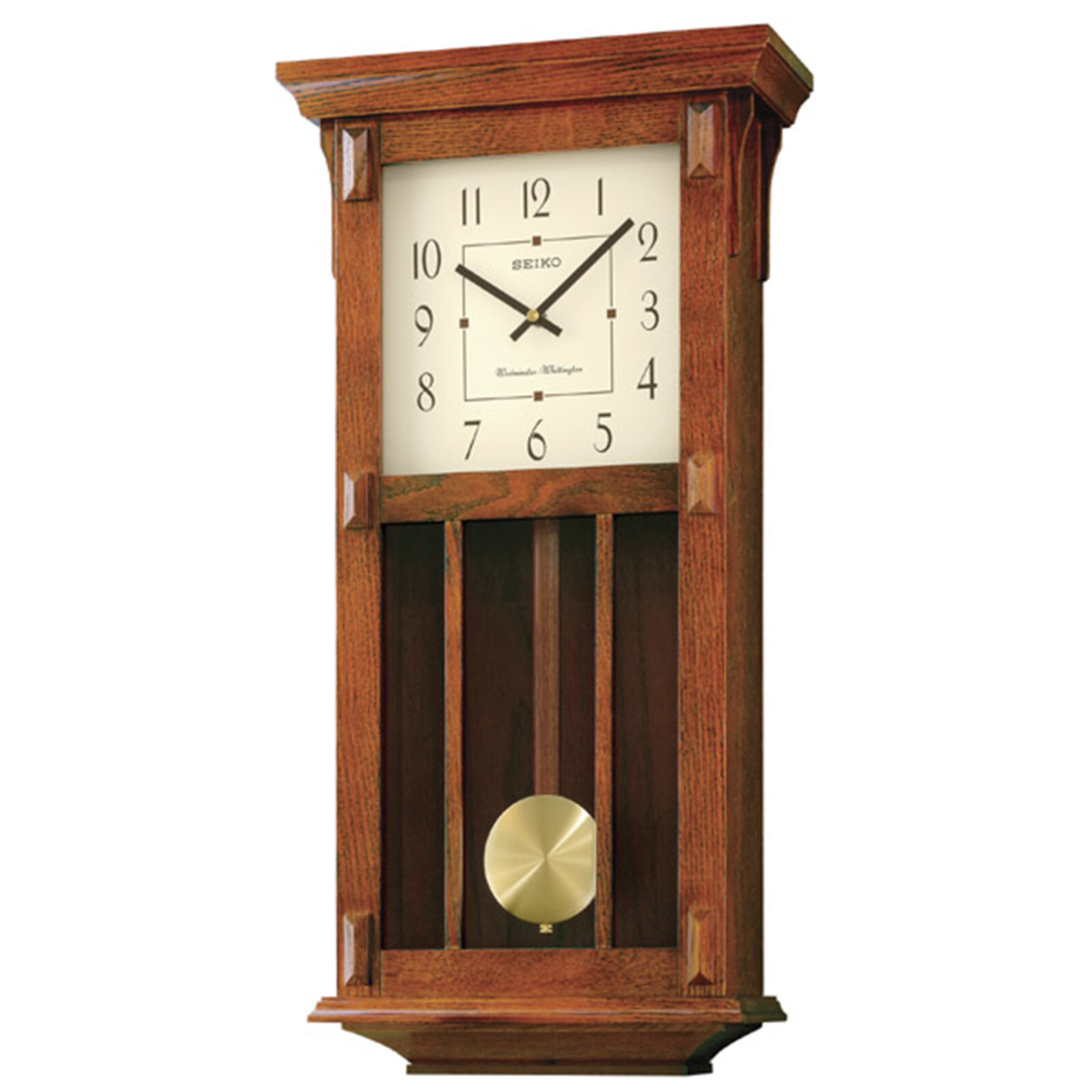 Seiko Mission Pendulum Wall Clock Reviews Wayfair