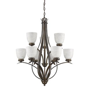 Bloomsbury Market Hemby 9-Light Shaded Chandelier