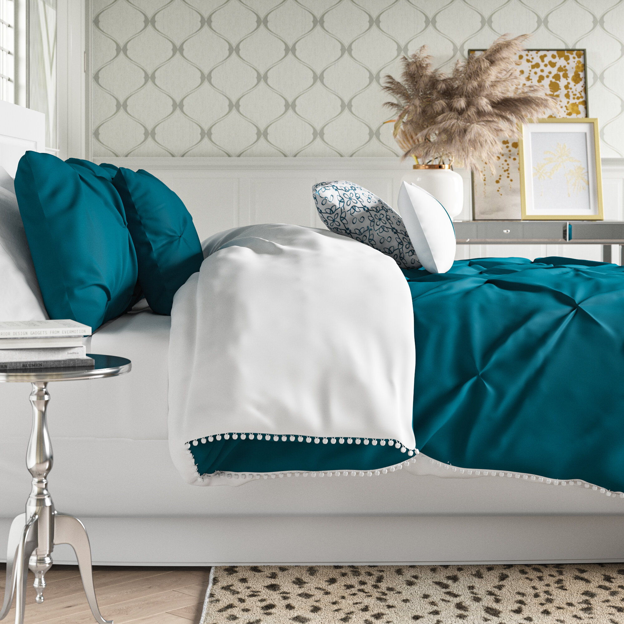 House Of Hampton Keesey Reversible 7 Piece Comforter Set Reviews Wayfair