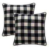 Farmhouse Rustic Check Plaid Throw Pillows Birch Lane