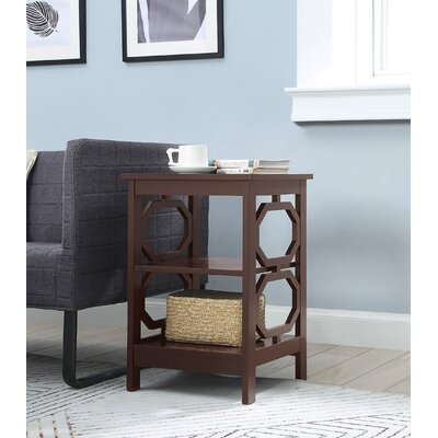 Ardenvor End Table Table Top Color: Espresso, Table Base Color: Espresso by Beachcrest Home