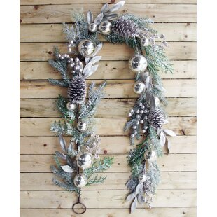 6' Christmas Ornament Pine Garland