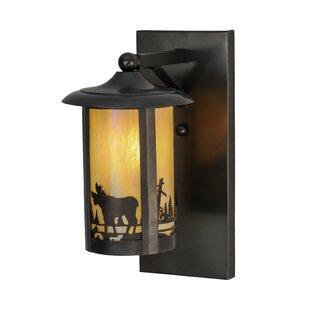 Find the perfect Greenbriar Oak 1-Light Outdoor Wall Lantern By Meyda Tiffany