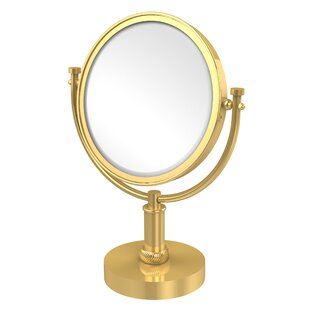 Compare & Buy Vanity Top Make-Up Magnification Mirror with Twist Detail By Allied Brass