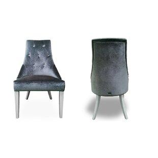 Rosdorf Park Whitney High Gloss Upholstered Dining Chair (Set of 2)