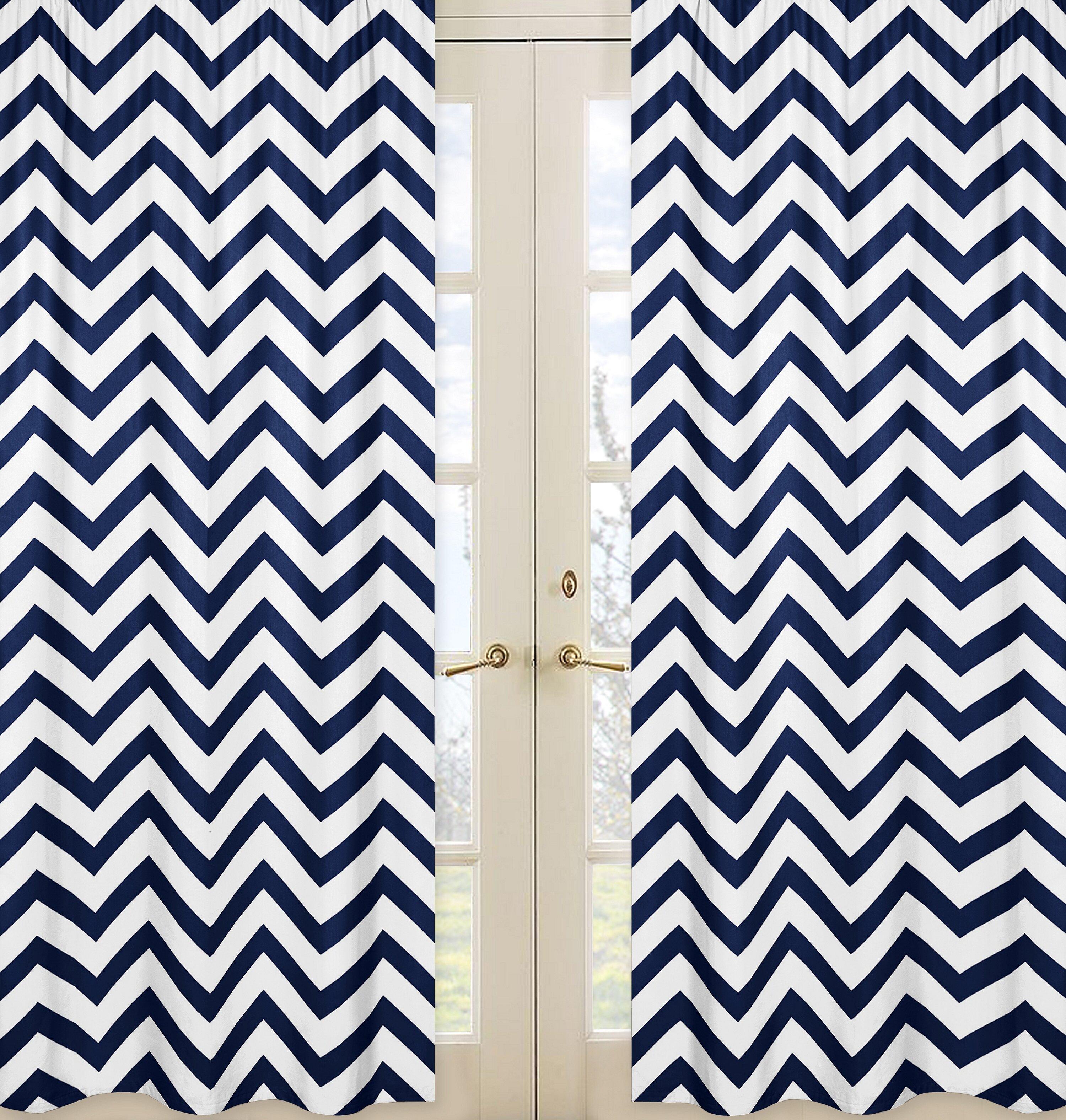 Sweet Jojo Designs Chevron Semi Sheer Rod Pocket Curtain Panels Reviews Wayfair