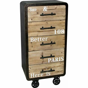 The Urban Port 5 Drawer Industrial Cabinet Chest