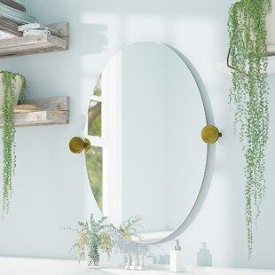 Andover Mills Murrayville Edge Oval Swivel Bathroom/Vanity Wall Mirror