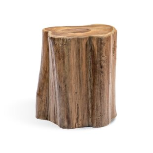 Astonishing Teak Wood Tree Section Accent Stool Creativecarmelina Interior Chair Design Creativecarmelinacom
