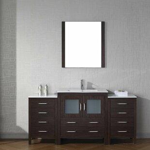 Cartagena 68 inch  Single Bathroom Vanity Set with Ceramic Top and Mirror