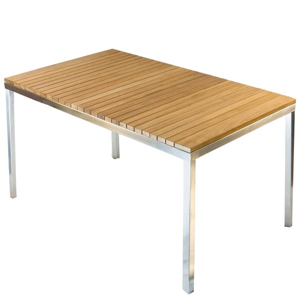 Modern Outdoor Dining Tables AllModern - Outdoor wood rectangular dining table