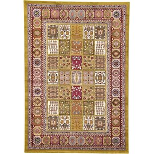 Best Janiyah Gold/Black/Light Green Area Rug By World Menagerie
