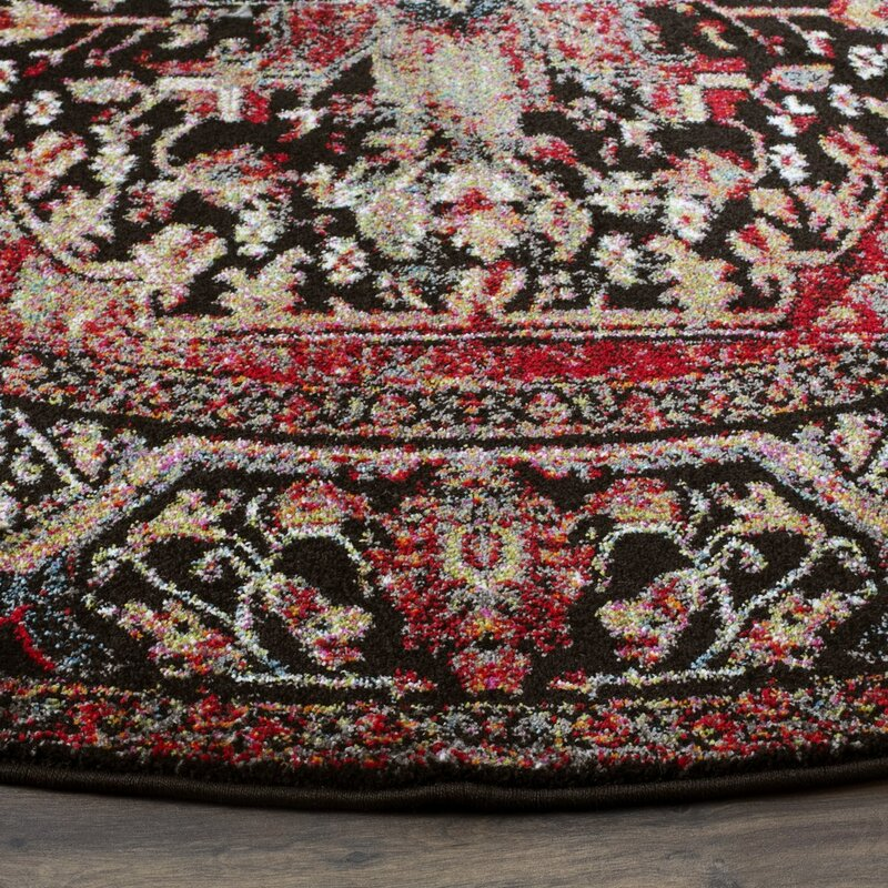 Bloomsbury Market Mccall Redblack Area Rug Reviews Wayfair