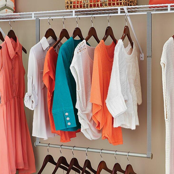 Closetmaid Double Hang Closet Rod Reviews Wayfair
