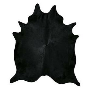 dyed brazilian cowhide black area rug