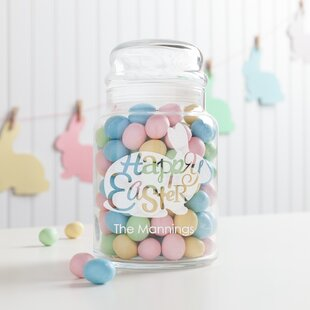Happy Easter Personalized Glass 1 qt. Kitchen Canister