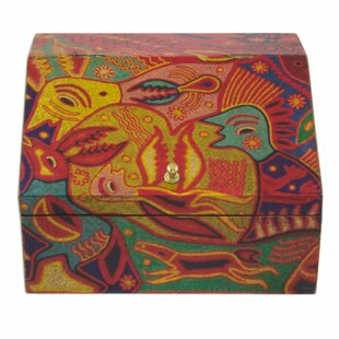 Shop For Huichol Cosmogony on Decoupage Wood Jewelry Box By Novica
