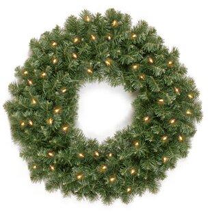 61cm Lighted Christmas Wreath By The Seasonal Aisle