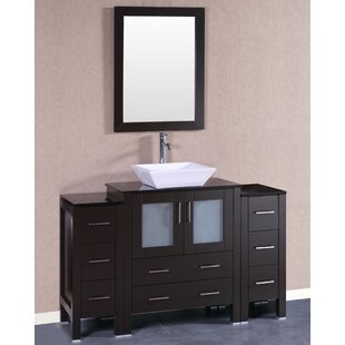 54 Single Bathroom Vanity Set with Mirror by Bosconi