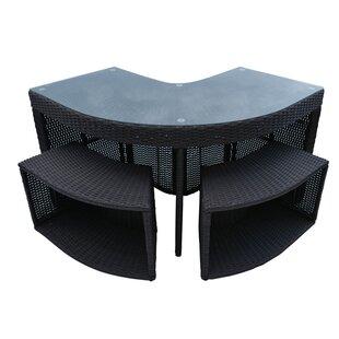 Check Price Corner Bar Set - Square Surround Furniture