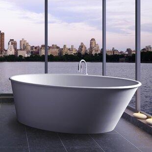 Big Save Oval One 58 x 34.75 Freestanding Soaking Bathtub ByClarke Products