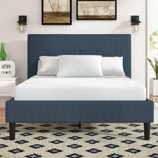Jed Button Detailed Upholstered Platform Bed By Brayden Studio