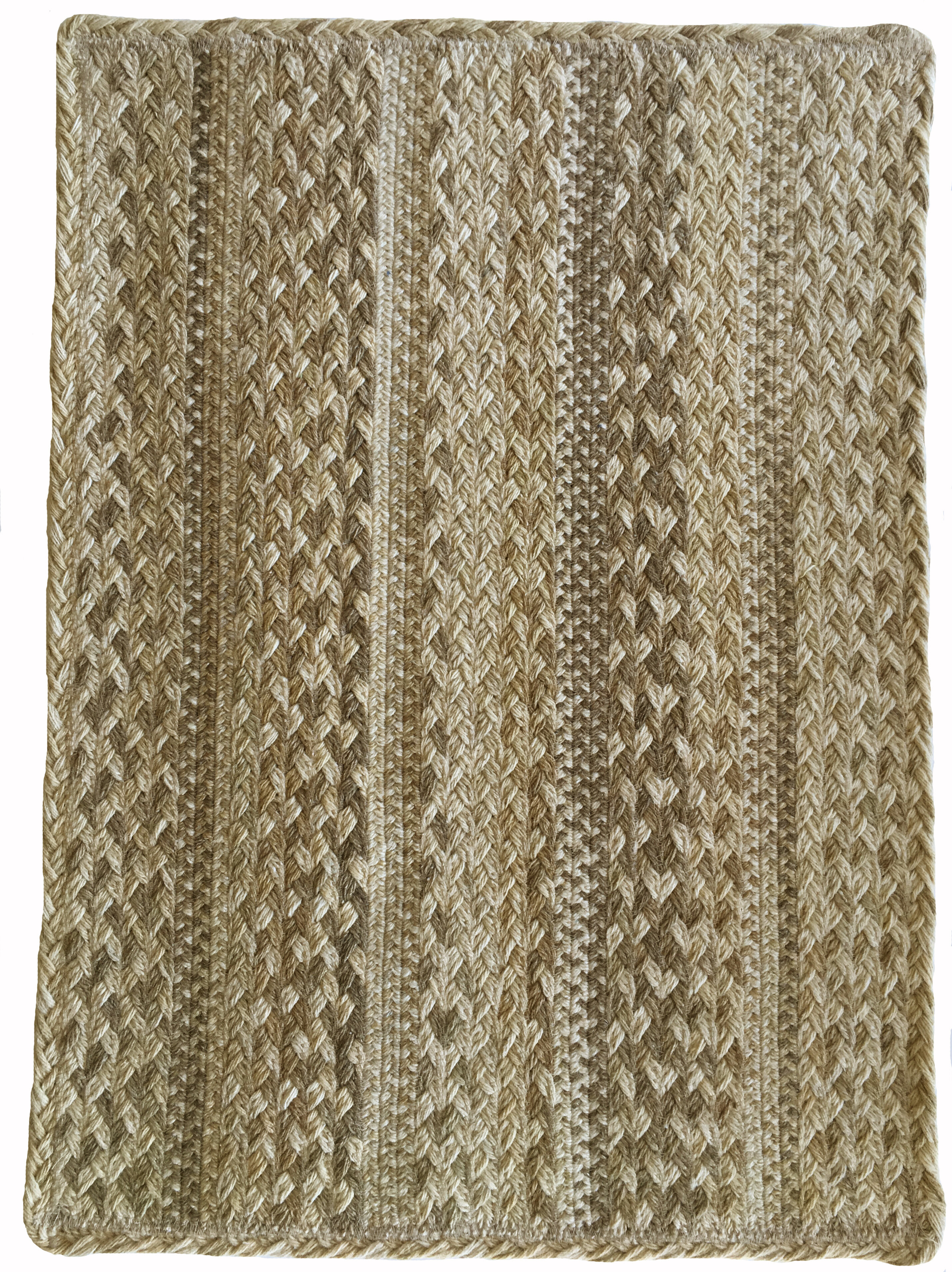 Cristian Hand Braided Wool Brown Area Rug