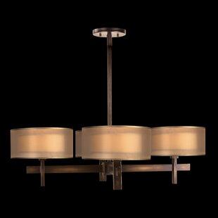 Fine Art Lamps Quadralli 4-Light Shaded Chandelier